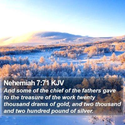 Nehemiah 7:71 KJV Bible Verse Image