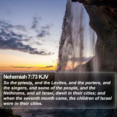 Nehemiah 7:73 KJV Bible Verse Image