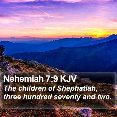 Nehemiah 7:9 KJV Bible Verse Image