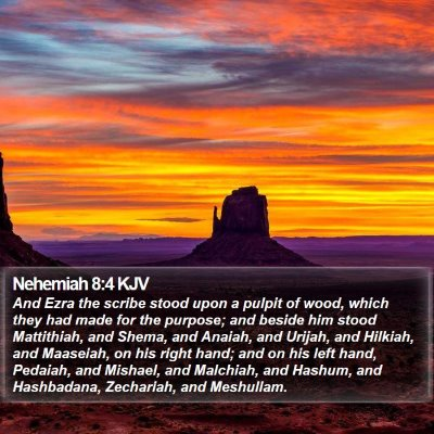 Nehemiah 8:4 KJV Bible Verse Image