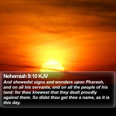 Nehemiah 9:10 KJV Bible Verse Image