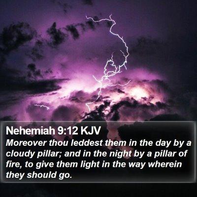 Nehemiah 9:12 KJV Bible Verse Image