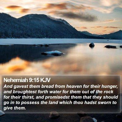 Nehemiah 9:15 KJV Bible Verse Image