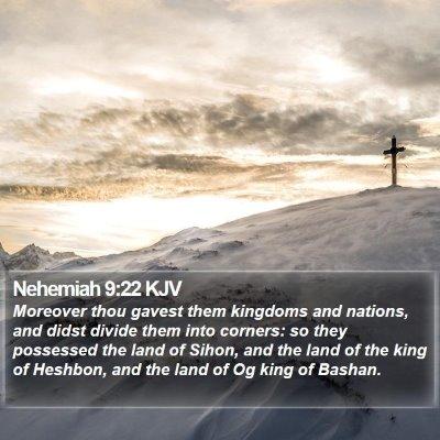 Nehemiah 9:22 KJV Bible Verse Image