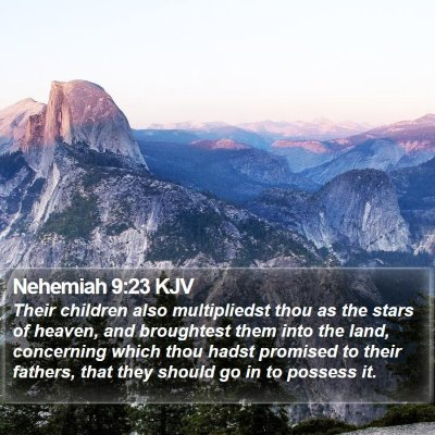 Nehemiah 9:23 KJV Bible Verse Image