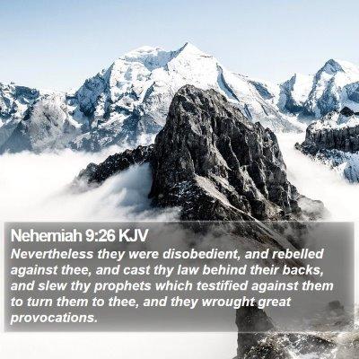 Nehemiah 9:26 KJV Bible Verse Image