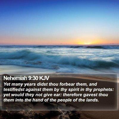 Nehemiah 9:30 KJV Bible Verse Image