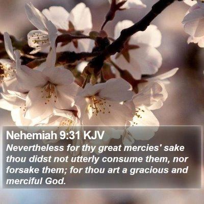Nehemiah 9:31 KJV Bible Verse Image