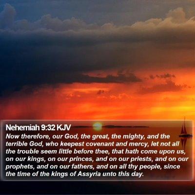 Nehemiah 9:32 KJV Bible Verse Image