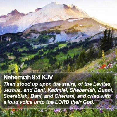 Nehemiah 9:4 KJV Bible Verse Image