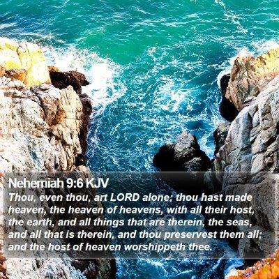 Nehemiah 9:6 KJV Bible Verse Image