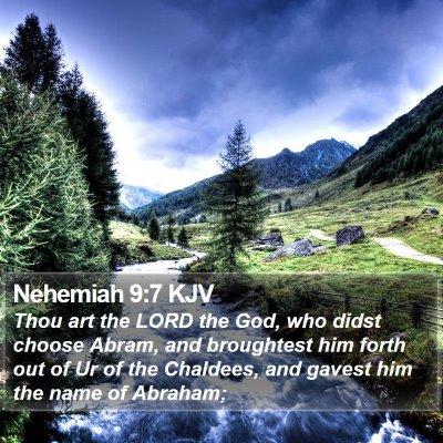 Nehemiah 9:7 KJV Bible Verse Image