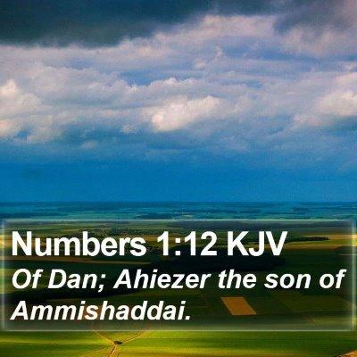 Numbers 1:12 KJV Bible Verse Image