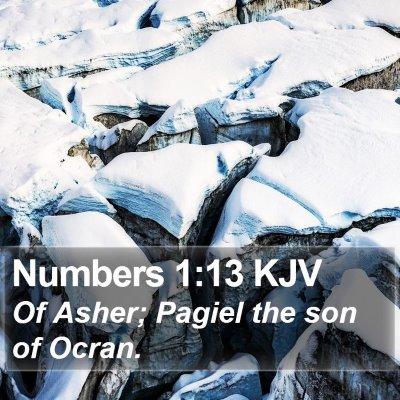Numbers 1:13 KJV Bible Verse Image