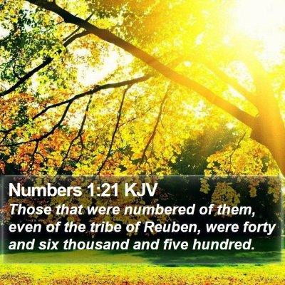 Numbers 1:21 KJV Bible Verse Image