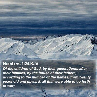 Numbers 1:24 KJV Bible Verse Image