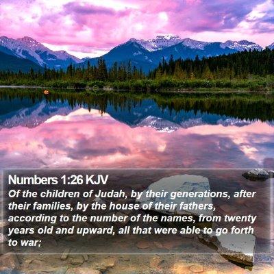 Numbers 1:26 KJV Bible Verse Image