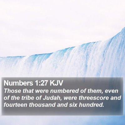 Numbers 1:27 KJV Bible Verse Image