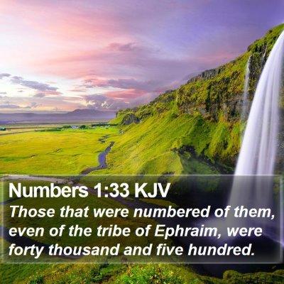 Numbers 1:33 KJV Bible Verse Image