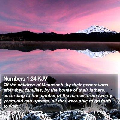 Numbers 1:34 KJV Bible Verse Image