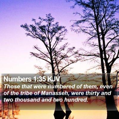 Numbers 1:35 KJV Bible Verse Image