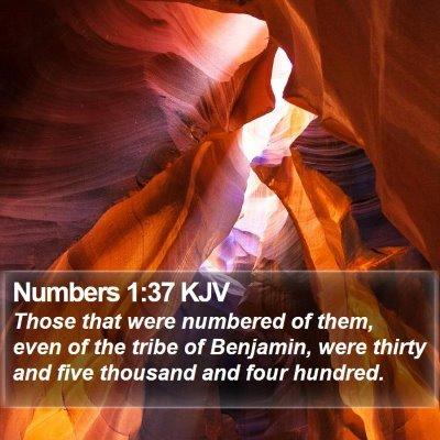 Numbers 1:37 KJV Bible Verse Image