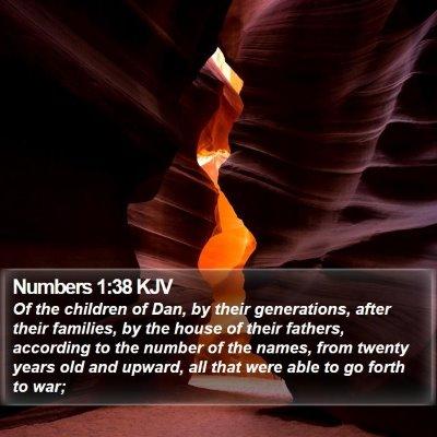 Numbers 1:38 KJV Bible Verse Image