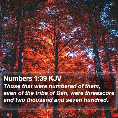 Numbers 1:39 KJV Bible Verse Image