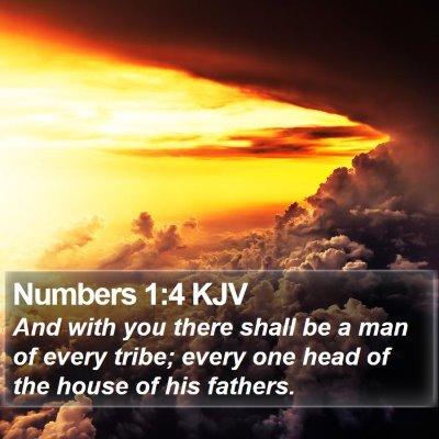 Numbers 1:4 KJV Bible Verse Image