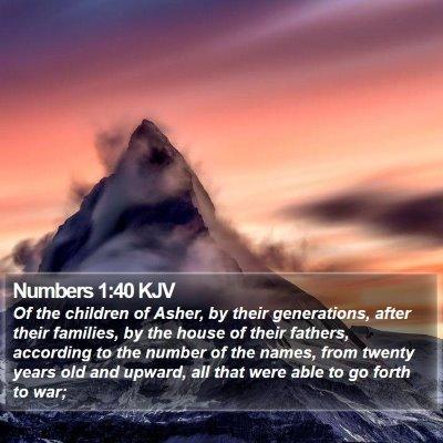 Numbers 1:40 KJV Bible Verse Image