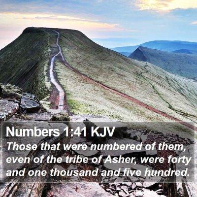 Numbers 1:41 KJV Bible Verse Image