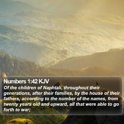 Numbers 1:42 KJV Bible Verse Image
