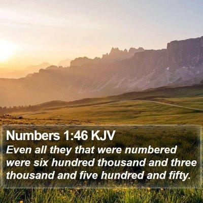 Numbers 1:46 KJV Bible Verse Image