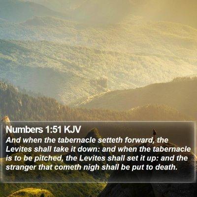 Numbers 1:51 KJV Bible Verse Image