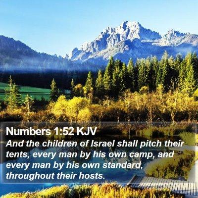 Numbers 1:52 KJV Bible Verse Image