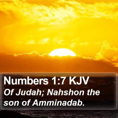 Numbers 1:7 KJV Bible Verse Image