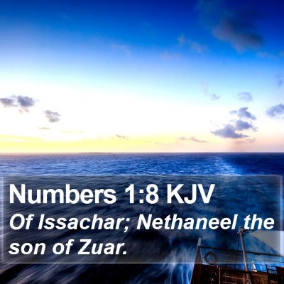 Numbers 1:8 KJV Bible Verse Image