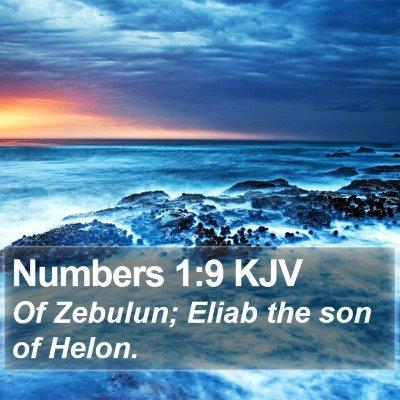 Numbers 1:9 KJV Bible Verse Image