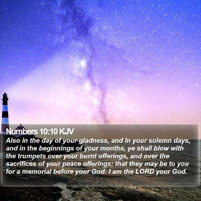 Numbers 10:10 KJV Bible Verse Image