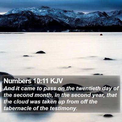 Numbers 10:11 KJV Bible Verse Image