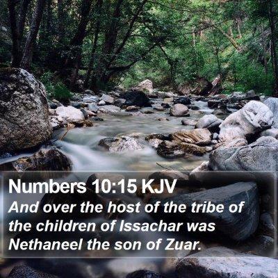 Numbers 10:15 KJV Bible Verse Image