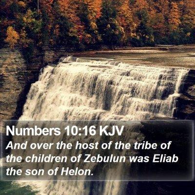 Numbers 10:16 KJV Bible Verse Image