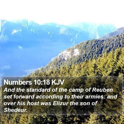 Numbers 10:18 KJV Bible Verse Image