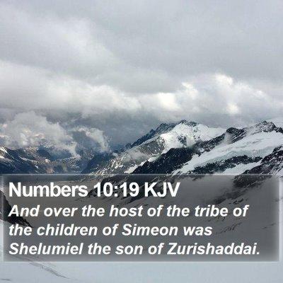 Numbers 10:19 KJV Bible Verse Image
