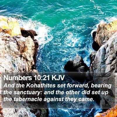 Numbers 10:21 KJV Bible Verse Image