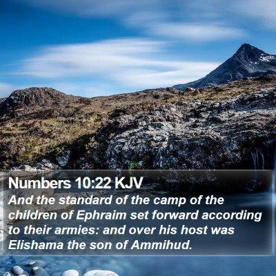 Numbers 10:22 KJV Bible Verse Image
