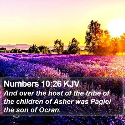 Numbers 10:26 KJV Bible Verse Image