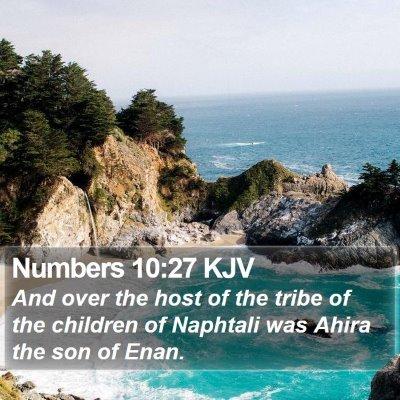 Numbers 10:27 KJV Bible Verse Image
