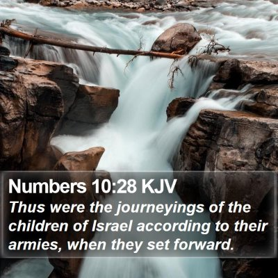 Numbers 10:28 KJV Bible Verse Image