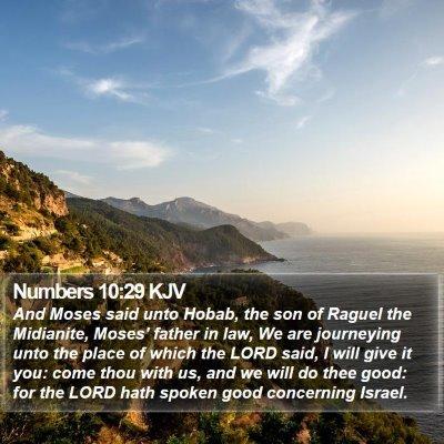 Numbers 10:29 KJV Bible Verse Image